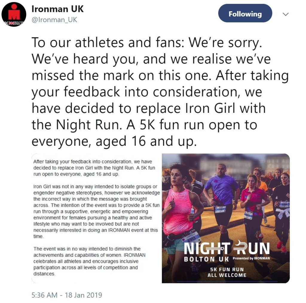 Iron Girl 5K rebrand